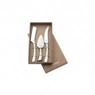 3 częściowy zestaw do sera 30,5x14x3cm Casa Bugatti SETTIMOCIELO srebrny