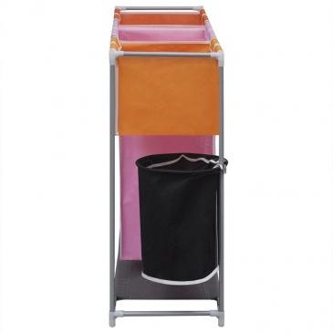 3 komorowy sortownik z koszem na pranie