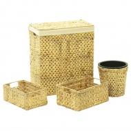 4-częściowy zestaw łazienkowy z hiacyntu wodnego