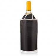 Aktywny schładzacz do wina Vacu Vin tulipan czarny
