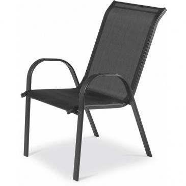 Krzesło ogrodowe 93x55x71cm Fieldmann czarne