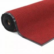Antypoślizgowa mata wejściowa 1,2x10 m, winylowy spód, czerwona