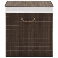 Bambusowy kosz na pranie prostokątny, ciemnobrązowy kolor
