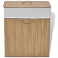 Bambusowy kosz na pranie - prostokątny, naturalny kolor