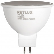 Barwa: 3000K - ciepły biały Retlux RLL 288 GU5.3 spot 7W 12V WW      RETLUX