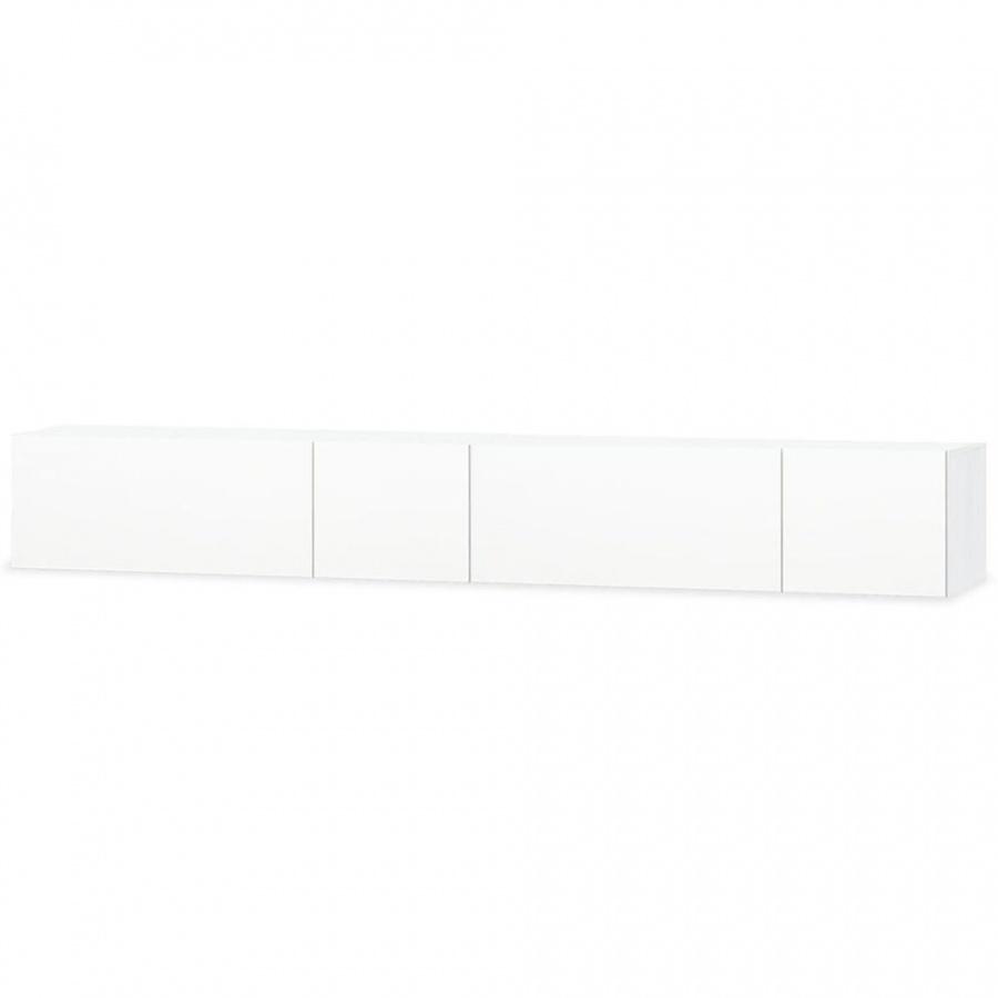 Białe szafki pod telewizor, 2 szt., 120x40x34 cm, płyta wiórowa kod: V-275113 + Z NAMI NIE RYZYKUJESZ