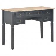 Biurko, czarne, 109,5x45x77,5 cm, drewniane