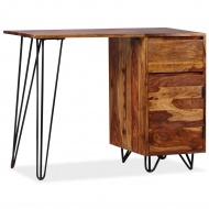 Biurko z 1 szufladą i 1 szafką, lite drewno sheesham