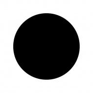 Blat stołowy okrągły Kokoon Design 70 cm czarny