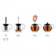 BODUM - Assam - Tłokowy zaparzacz/dzbanek do herbaty 0,5 l - biały
