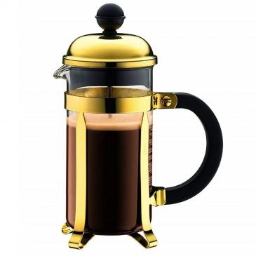 BODUM - Chambord - Tłokowy zaparzacz do kawy 0,35 l - Złoty