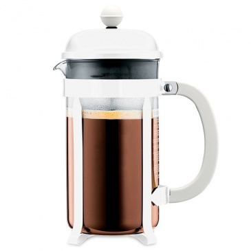 BODUM - Chambord - Tłokowy zaparzacz do kawy 1 l - Biały