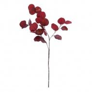Bordowa-złota gałąź dekoracyjna z liśćmi 82 cm