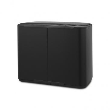 BRABANTIA - Bo Pedal Bin - Kosz 3 x 11 l - 3 komory - Czarny matowy