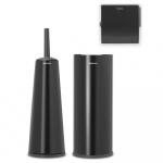 BRABANTIA - ReNew - Zestaw akcesoriów toaletowych - Czarny matowy