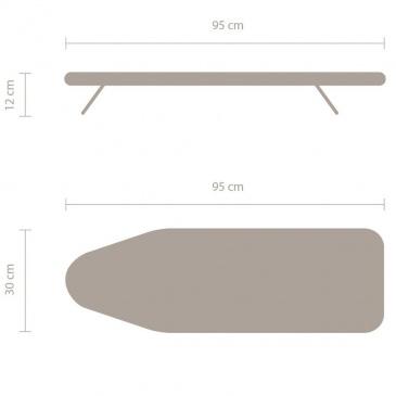 BRABANTIA - Stołowa deska do prasowania - rozmiar S - Morning Breeze