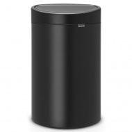 BRABANTIA - Touch Bin New - Kosz 40 l - Czarny matowy