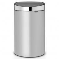 BRABANTIA - Touch Bin New - Kosz 40 l - Metaliczny szary