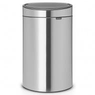 BRABANTIA - Touch Bin New - Kosz 40 l - Stal matowa