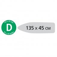 BRABANTIA - Zestaw PerfectFit - Pokrowiec na deskę do prasowania - rozmiar D - Tropical Leaves