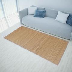 Brązowy, prostokątny dywan bambusowy, 80 x 200 cm