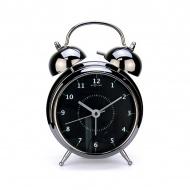 Budzik 12,5 cm NEXTIME Wake up czarny