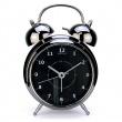 Budzik 20 cm NEXTIME Wake up czarny 5113zw