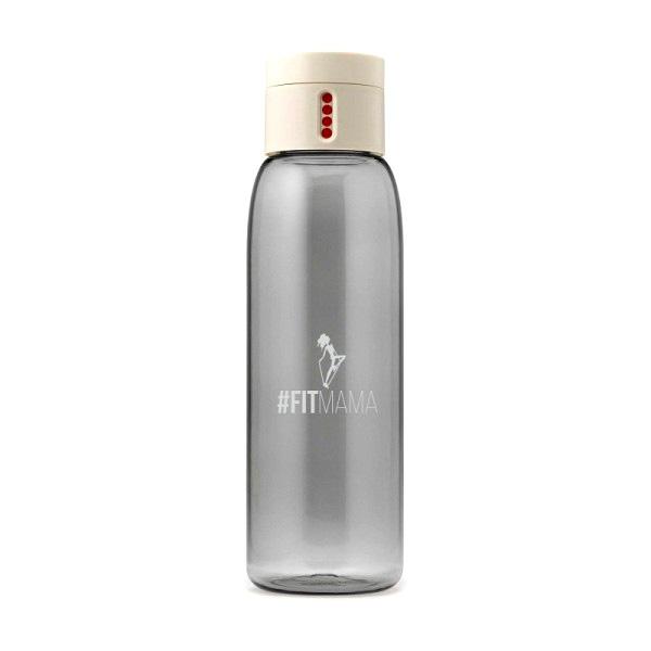 Butelka na wodę AL DOT #Fitmama 600ml HPBA kremowo-szara BDFMK001