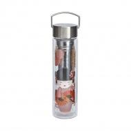 Butelka szklana 350 ml na herbatę z pokrowcem Eigenart Little Geisha EA-3688811