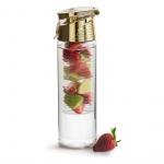 Butelka z pojemnikiem na owoce/lód 0,75 l Sagaform Fresh złota