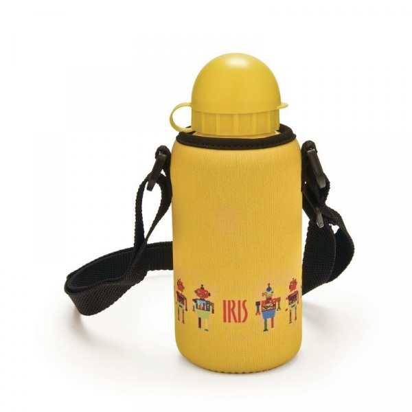 Butelka z pokrowcem Iris Snack Rico żółty 9952-T