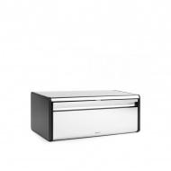 Chlebak prostokątny stal polerowana 18,7x25x46,5 srebrny/czarny