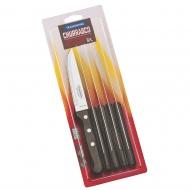 CHURRASCO nóż średni 6szt FSC brąz