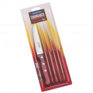 CHURRASCO nóż średni 6szt FSC czerwony