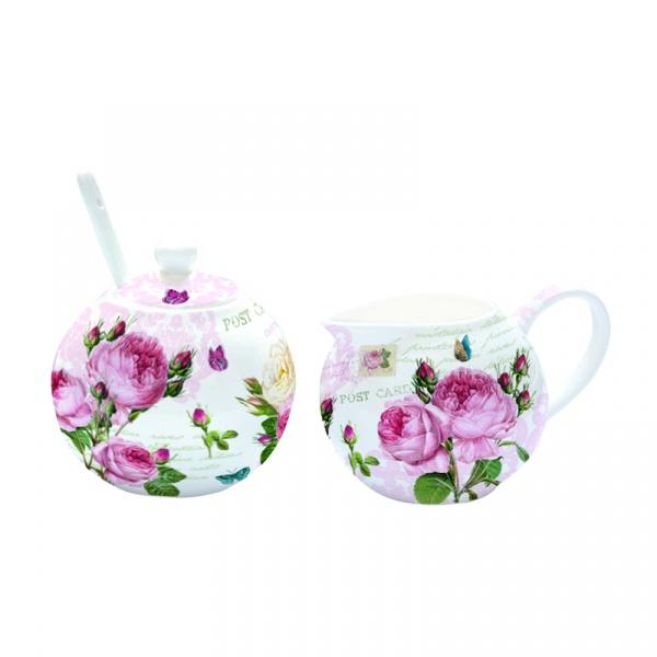 Cukiernica z łyżeczką +mlecznik do kawy Nuova R2S Romantic 317 RMR