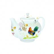 Czajnik do herbaty z zaparzaczem 1 l Nuova R2S Romantic kogut
