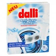 DALLI 15szt Chusteczki zapobiegające szarzeniu tkanin podczas prania