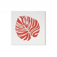 Dekoracja ścienna 30 x 30 cm Vialli Design C-Tru biało - pomarańczowa