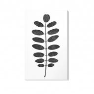 Dekoracja ścienna 30 x 50 cm Vialli Design C-Tru biało - czarna