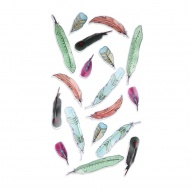 Dekoracje ścienne 18szt Feather Umbra