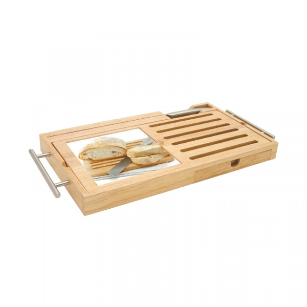 Deska do krojenia pieczywa z nożem Nuova R2S Gift 480 CUB