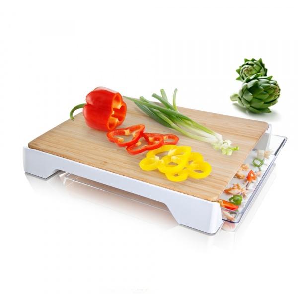 Deska do krojenia z szufladą Tomorrow's Kitchen biała TK-4685260