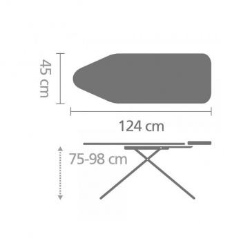 Deska do prasowania rozmiar C (124x45 cm) Lavender - Brabantia