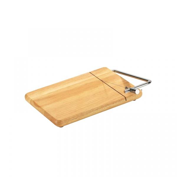 Deska z nożem do sera 25 x 18 cm Zassenhaus kauczukowiec ZS-050288