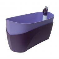 donica samonawadniająca prostokątna 37,5x15,5 cm fioletowy