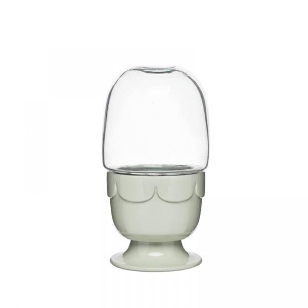 Doniczka ze szklaną pokrywą Sagaform Herbs&Spices zielona SF-5017188