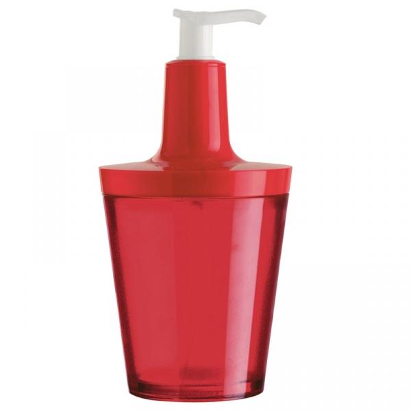 Dozownik do mydła Koziol Flow czerwony KZ-5879536