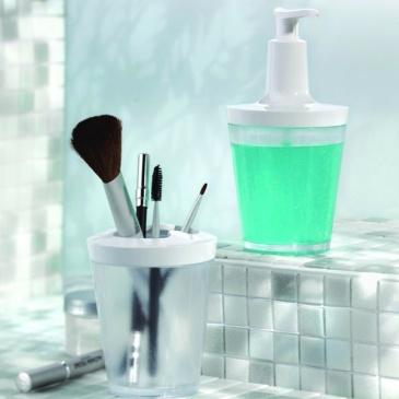 Dozownik do mydła Koziol Flow transparentny