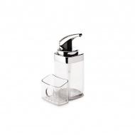 Dozownik do mydła z pojemnikiem na gąbkę Simple Human