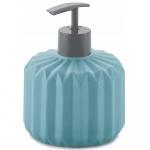 Dozownik na mydło ceramiczny 400ml Kela Origami turkusowy
